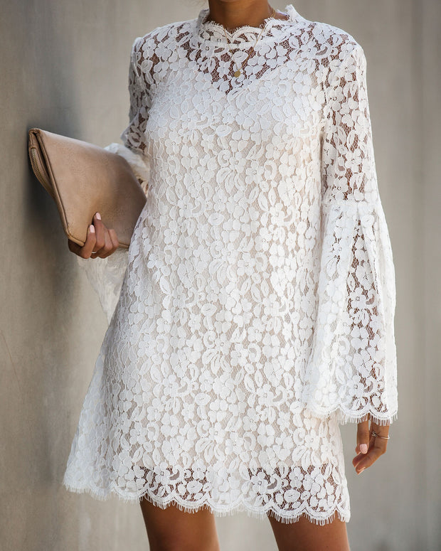 Fit For A Queen Lace Dress - Off White - FINAL SALE