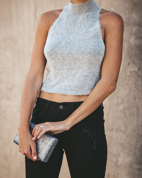 Joy To The World Knit Tencel Tank - Heather Grey - FINAL SALE