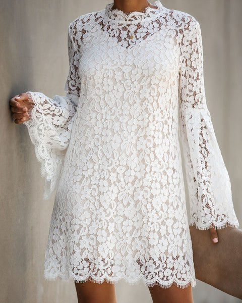 Fit For A Queen Lace Dress - Off White