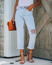 Kind High Rise Distressed Denim - FINAL SALE