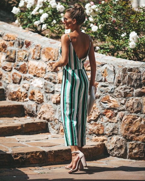 Top Performer Striped Jumpsuit - FINAL SALE