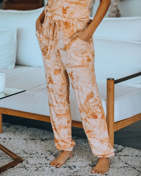 Desert Oasis Pocketed Tie Dye Knit Joggers