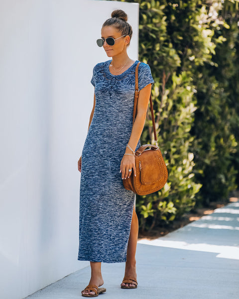 Wilder Embroidered Knit Midi Dress