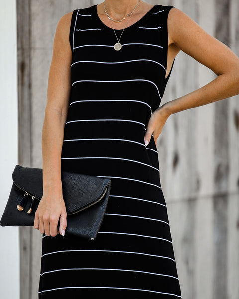 Alright With Me Striped Maxi Tank Dress
