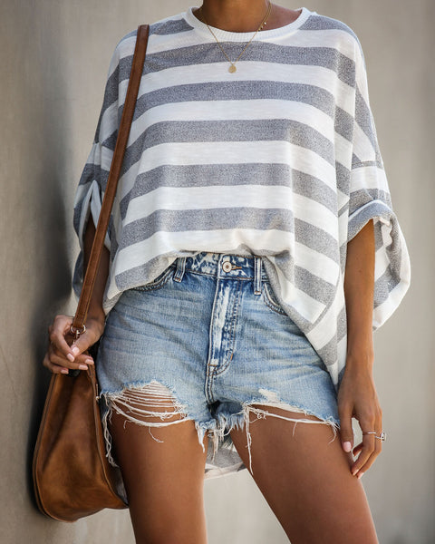 Northern Striped Relaxed Knit Top