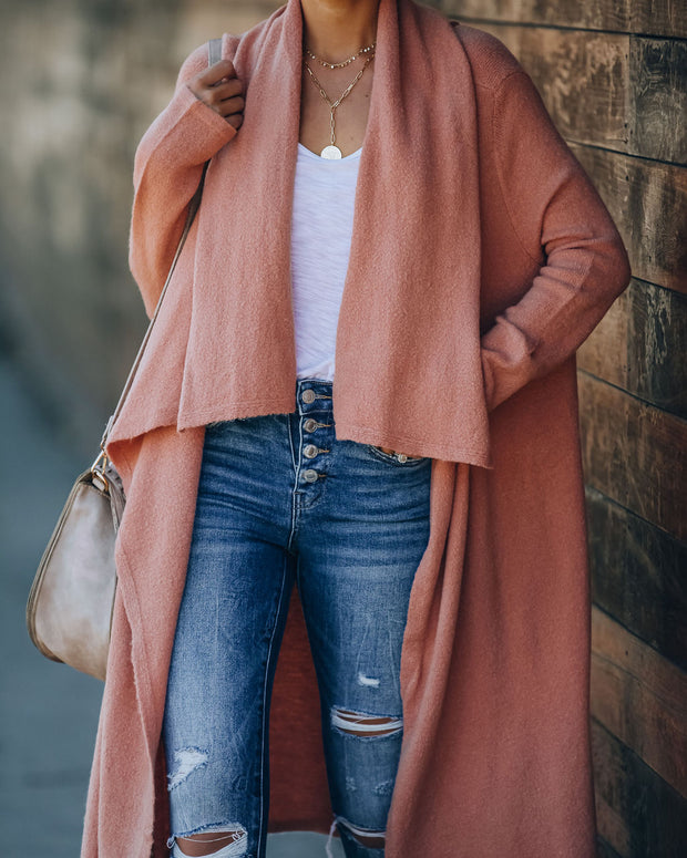 Amanza Knit Duster Cardigan - Rose