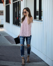 Throne Lace Top - Mauve