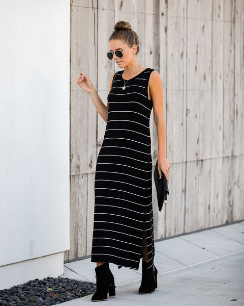 Alright With Me Striped Maxi Tank Dress - FINAL SALE