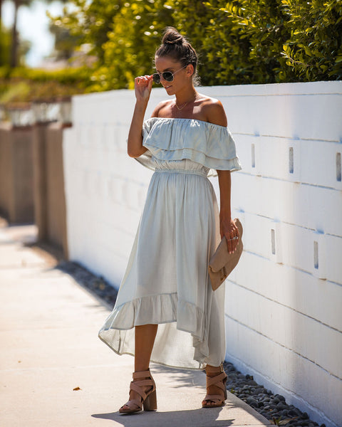 41c685b79c2 Freshen Up High Low Off The Shoulder Maxi Dress