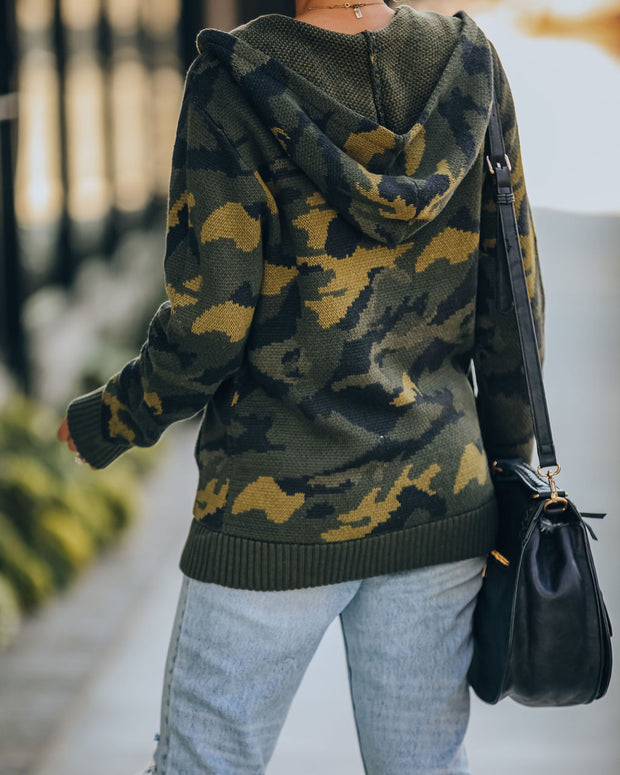 Lifesaver Cotton Blend Pocketed Knit Camo Hoodie - FINAL SALE