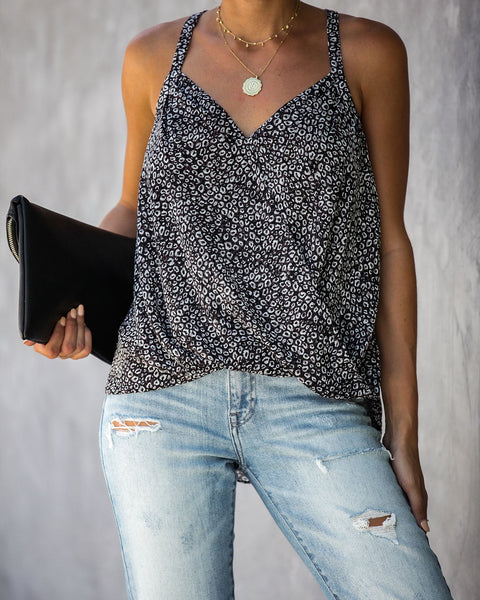 Out Of Mind Leopard Top - FINAL SALE