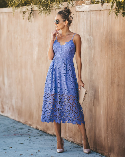 Bon Appetit Lace Midi Dress - Purple Orchid