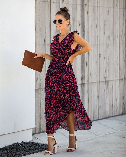 Ballard Floral Smocked Ruffle Midi Dress - FINAL SALE