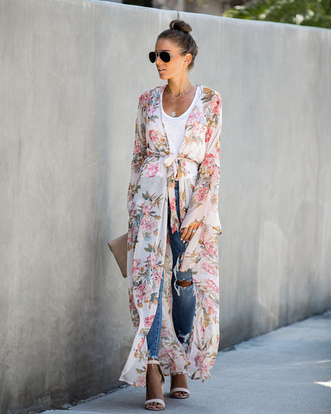 Find Balance Floral Duster Kimono