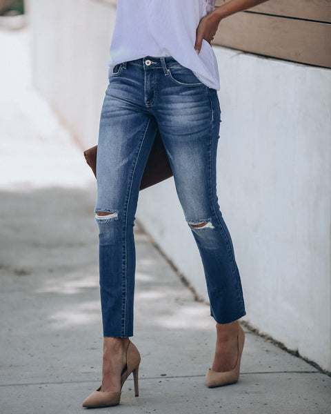 Underwood Mid Rise Distressed Denim - FINAL SALE