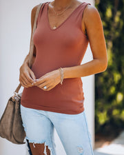 Versatile Seamless Knit Tank - Ginger - FINAL SALE