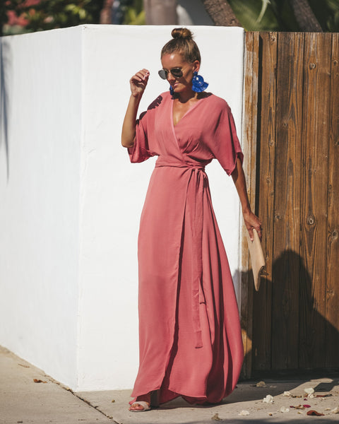 Moulin Rouge Wrap Maxi Dress