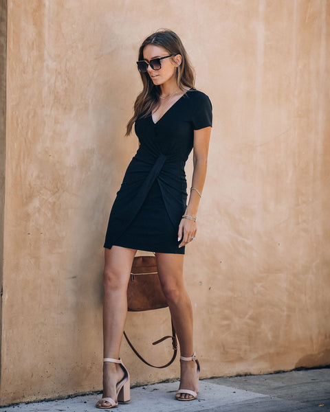 Zuri Short Sleeve Ribbed Twist Dress
