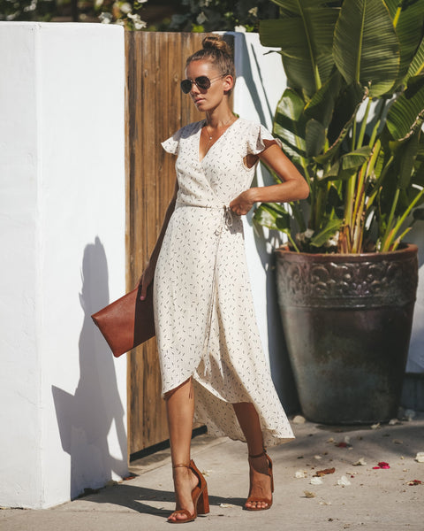 Sweetly Sprinkled Wrap Dress