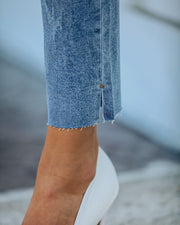 Milly High Rise Split Ankle Denim view 8