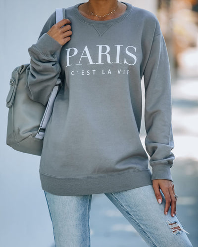 Paris C'est La Vie Premium Cotton Blend Sweatshirt