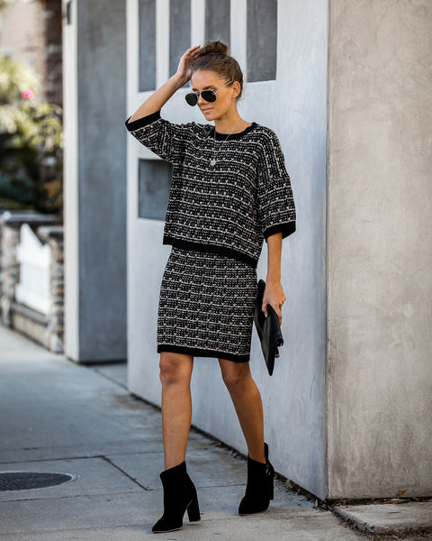 Sheer Bliss Tweed Knit Skirt - FINAL SALE