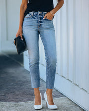 Milly High Rise Split Ankle Denim view 9