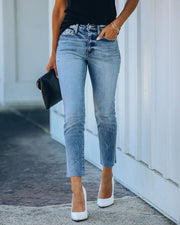 Milly High Rise Split Ankle Denim view 10