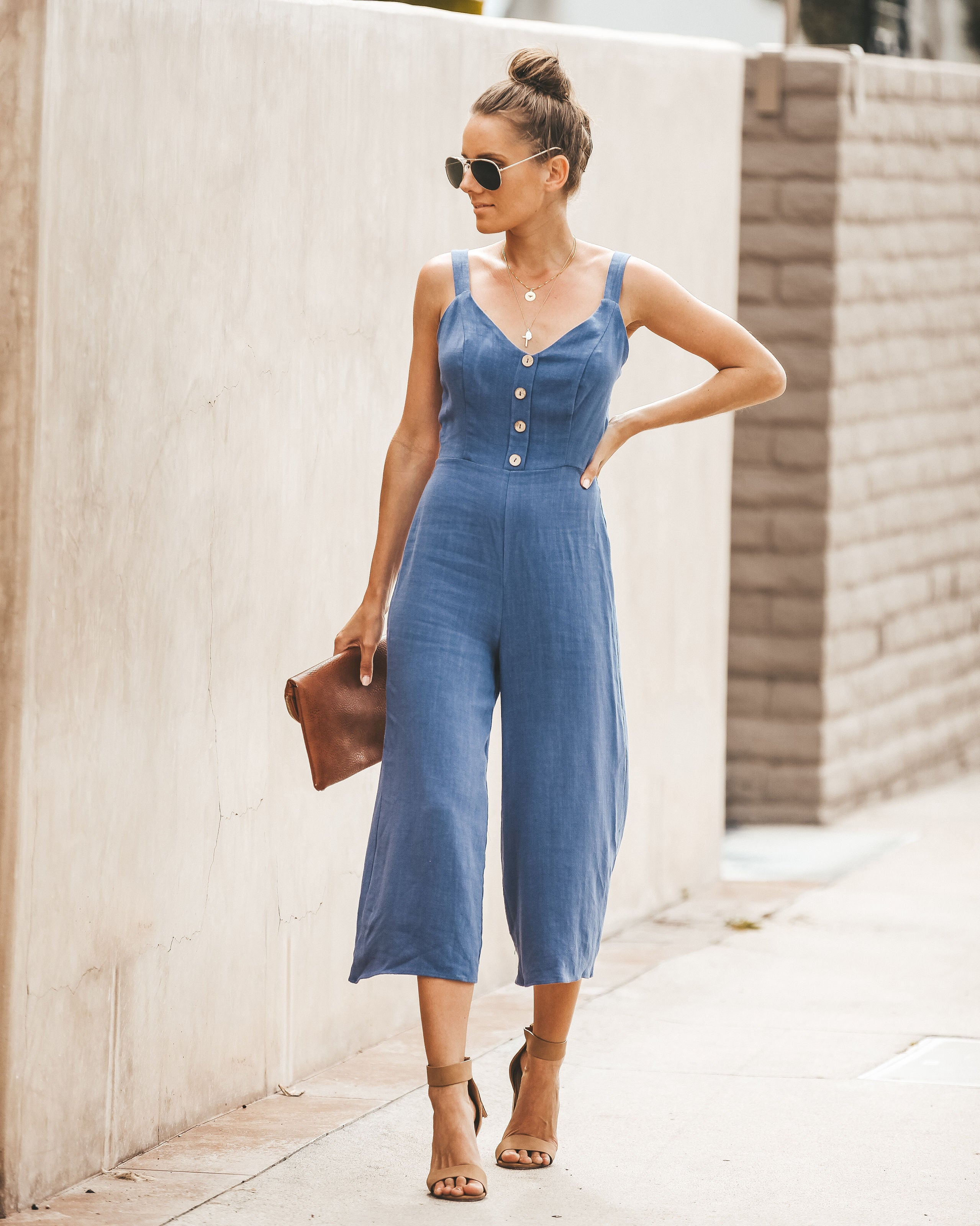 a32374bcb2c Detail Product. ← Home - 50% SALE - Meadow Tie Back Jumpsuit - Navy - FINAL  SALE