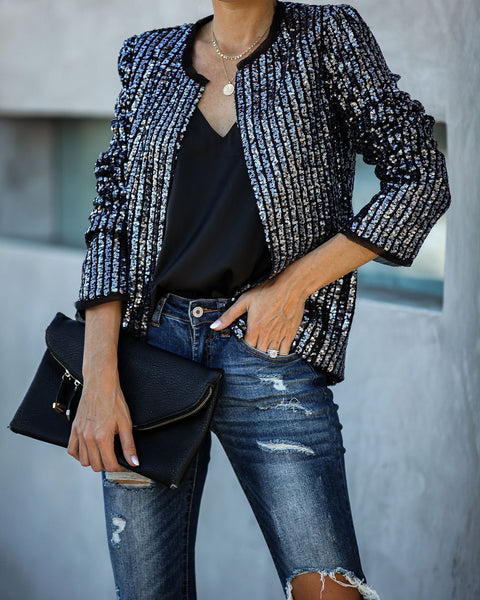 Backstage Sequin Jacket  - FINAL SALE