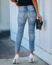 Milly High Rise Split Ankle Denim view 2