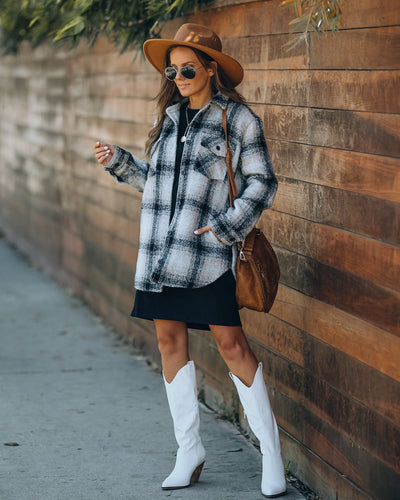 Chandra Pocketed Plaid Shacket