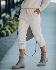 Avery Pocketed Knit Joggers - Oatmeal - FINAL SALE