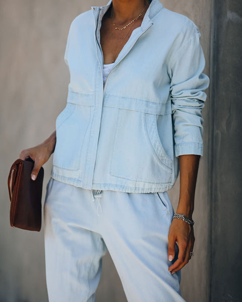 Manhattan Beach Cotton Pocketed Chambray Jacket - FINAL SALE