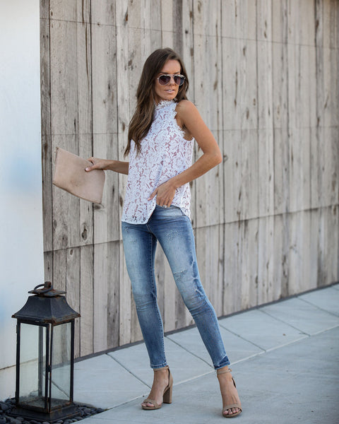 Throne Lace Top - Off White