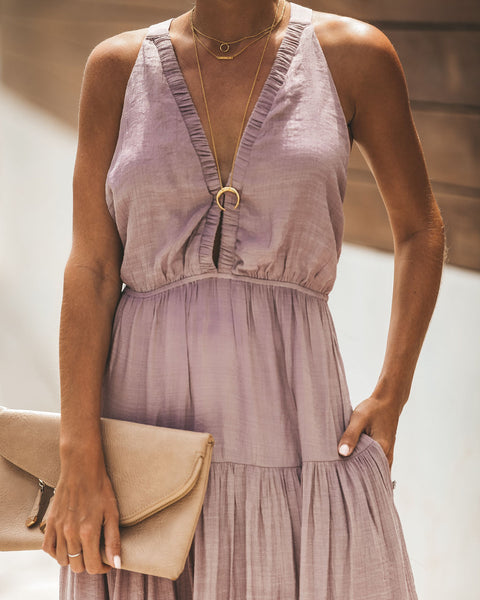 Moon Of My Life Pocketed Maxi Dress - Mauve