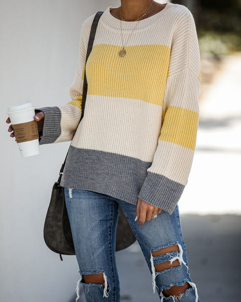 Yasmine Colorblock Knit Sweater - FINAL SALE