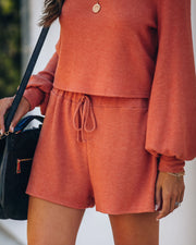 Siesta Time Knit Shorts - Rust  - FINAL SALE