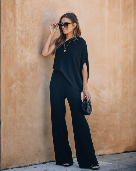Recipe For Success One Shoulder Jumpsuit