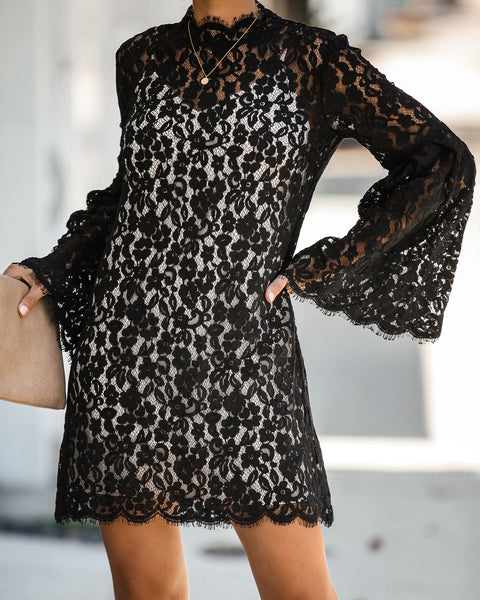 Fit For A Queen Lace Dress - Black - FINAL SALE