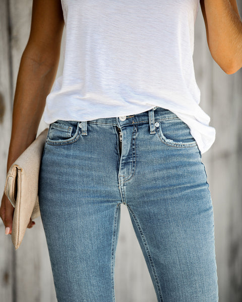 Busted High Rise Skinny Jeans - FREE PEOPLE - FINAL SALE