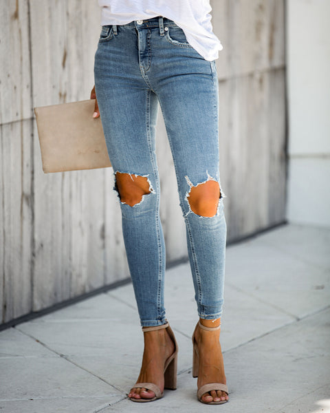 Busted High Rise Skinny Jeans - FREE PEOPLE