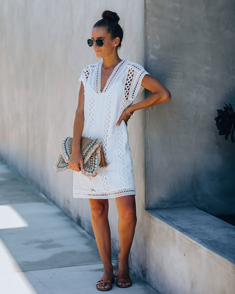 Hilary Crochet Eyelet Dress