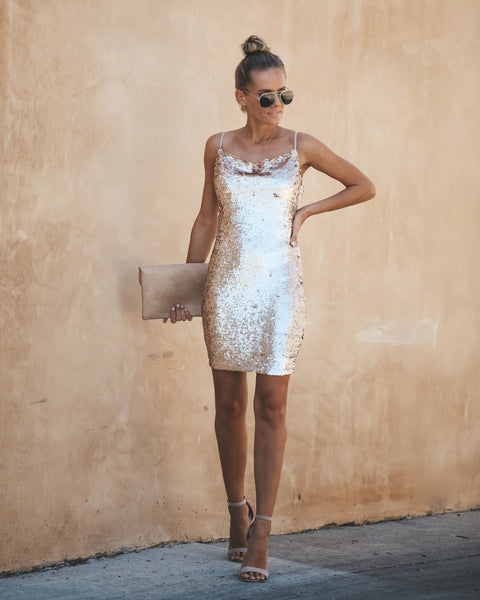 Poppin' Bubbly Sequin Dress
