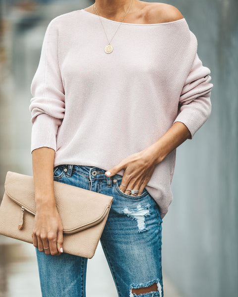 Leighton Ribbed Sweater - Mauve