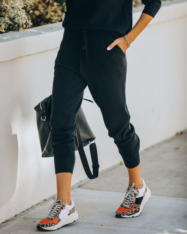 Avery Pocketed Knit Joggers - Black - FINAL SALE
