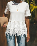 Victorian Peplum Top - White