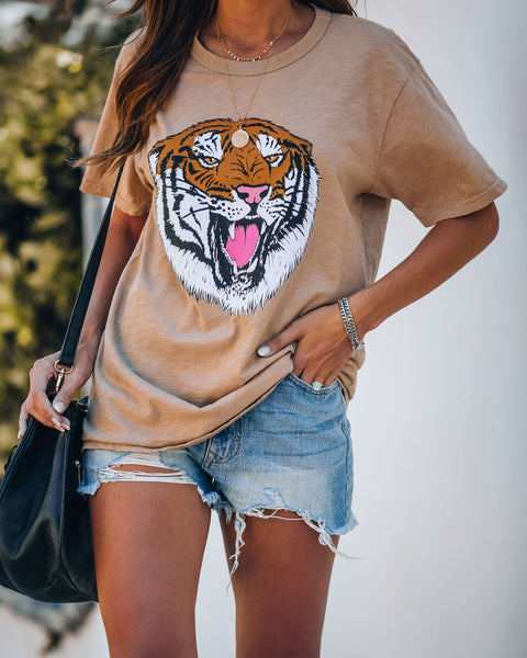 PREORDER - Hear Me Roar Cotton Tiger Tee