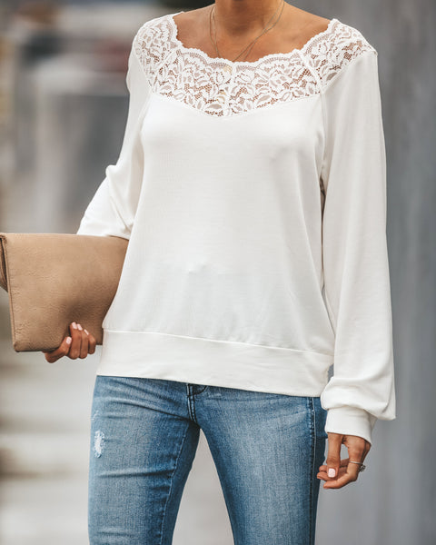 Innocent Lace Off The Shoulder Top