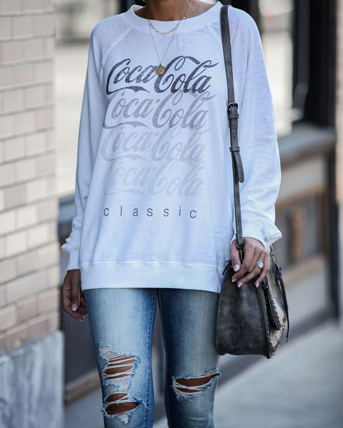 Classic Coca Cola Relaxed Pullover - FINAL SALE